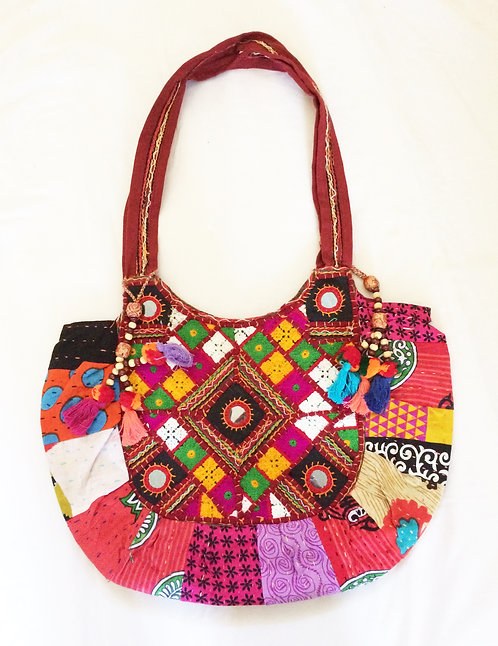 Patchwork Antique Shopper Bag