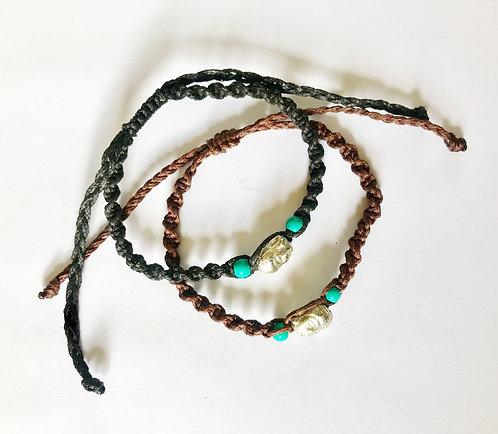 Buddha with Turquoise Friendship Bracelet