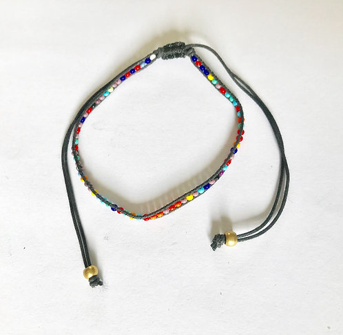 Multi Bead Friendship Bracelet Anklet