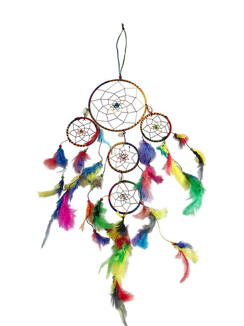 Native Indian Dreamcatcher 5 Ring