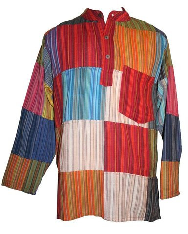 Nepal Patchwork Stripe Shirt