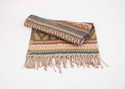 Aztec Natural Shawl Blanket