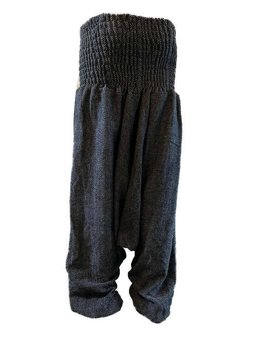 Grey Fleece Afgani Yoga Trousers