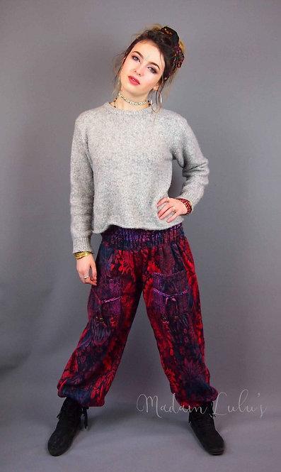 Flower Nattan Fleece Trousers