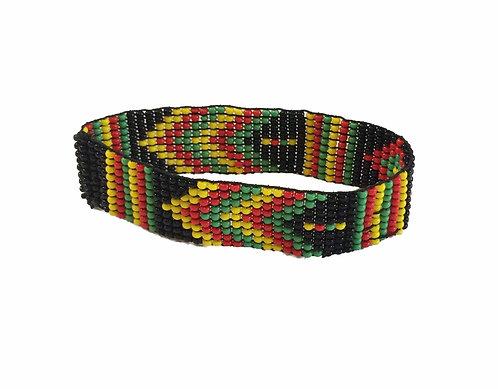 Aztec Rasta Bead Bracelet