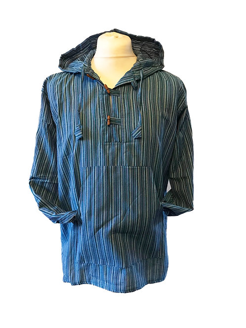 Nepal Stripe Hooded Shirt