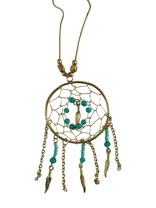 Brass Dream Catcher Necklace
