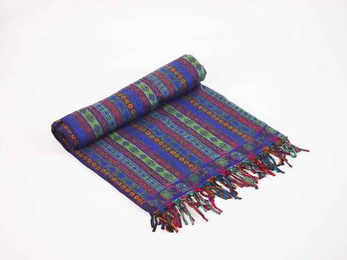 Paisley Stripe Oversized Scarf Shawl Blanket