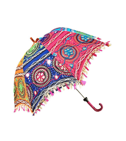 Embroidered Indian Parasol Sunshade