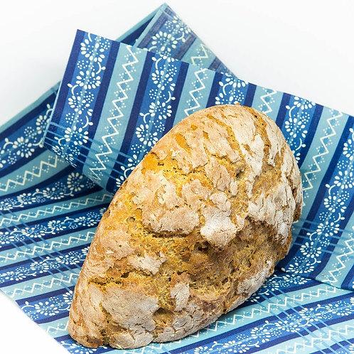 Beeofix Bienenwachstücher FAMILY Blau mit Brot groß