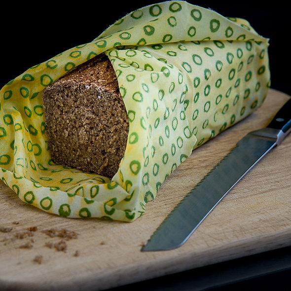 Beeofix Bienenwachstuch XL Gelb mit Brot