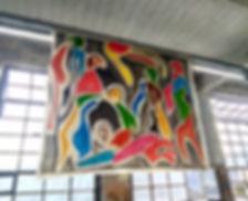 Singular #1, 2017, acrylic on canvas, 200 x 170 cm approx. Installation view, Flutgraben eV, Berlin, 2018.