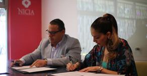 Mujeres de la Politica firma acuerdo de colaboración con el programa NICIA