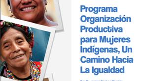 Programa Organización productiva para Mujeres Indígenas,UN CAMINO HACIA LA IGUALDAD.