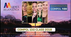 Mujeres de la Política premiadas en el top 100 de la COMPOL