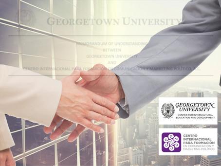 CIF y Georgetown University CIED firman acuerdo de Colaboración.