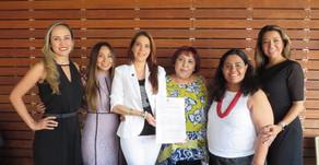 Firma del acta constitutiva de Mujeres de la Política A.C.