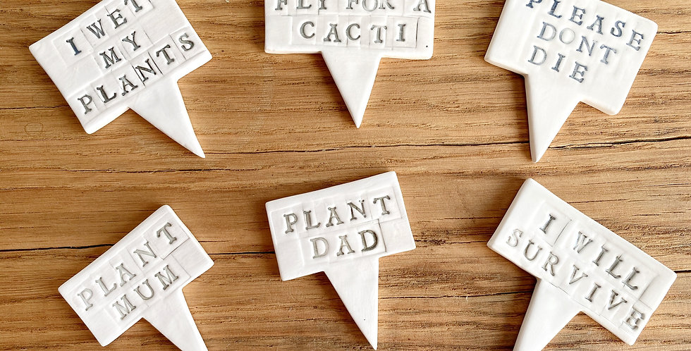 Ceramic Plant Sign