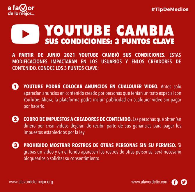 YouTube cambia sus condiciones: 3 puntos clave