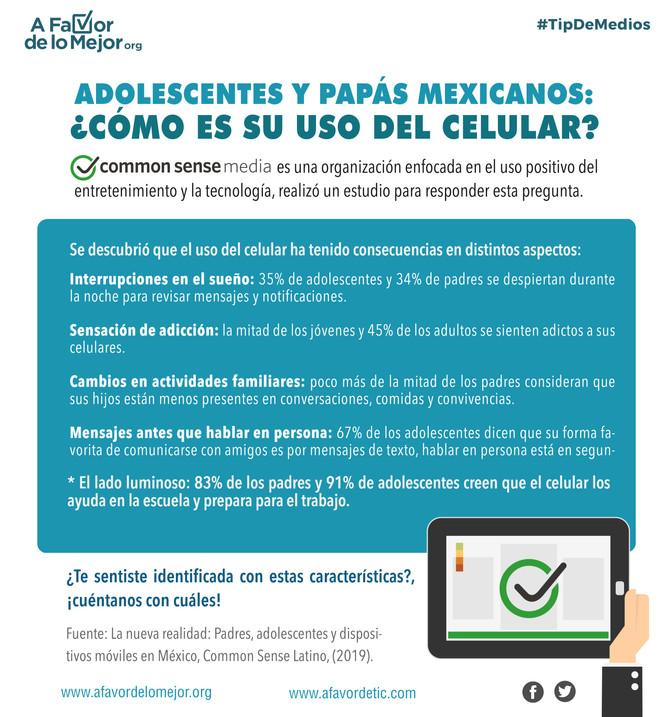 Adolescentes y papás mexicanos: ¿Cómo es su uso del celular?