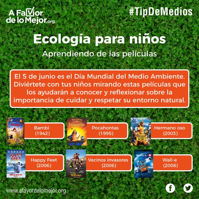 Ecología para niños Aprendiendo de las películas.