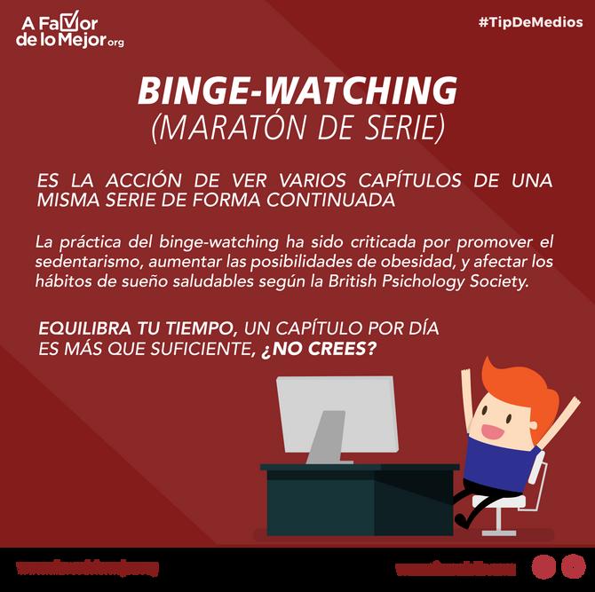 Binge watching - maratón de series