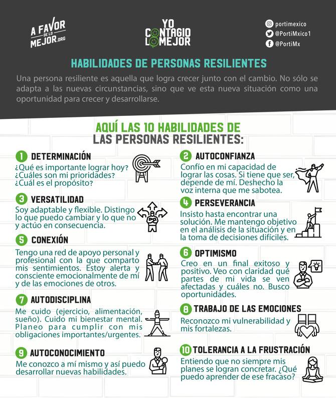 Habilidades de personas resilientes