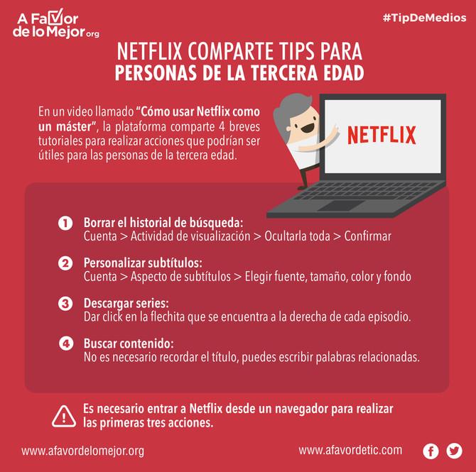 Guía de uso de Netflix para personas de la tercera edad