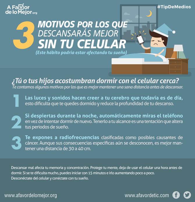 3 motivos por los que descansarás mejor sin tu celular