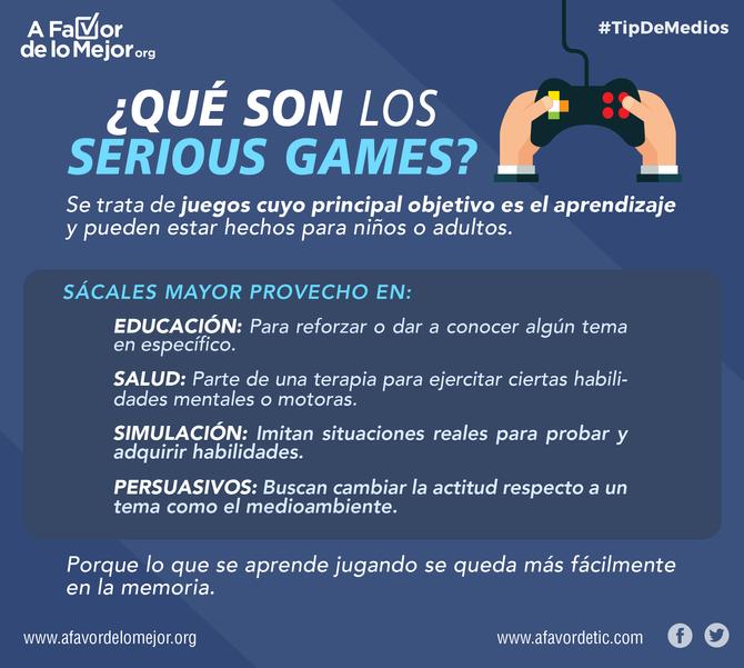 ¿Qué son los serious games?