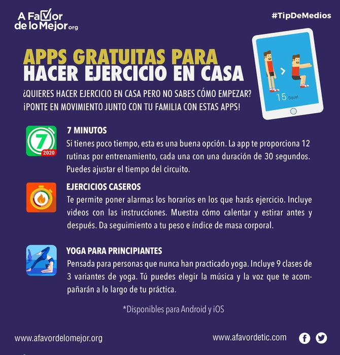 Apps gratuitas para hacer ejercicio en casa