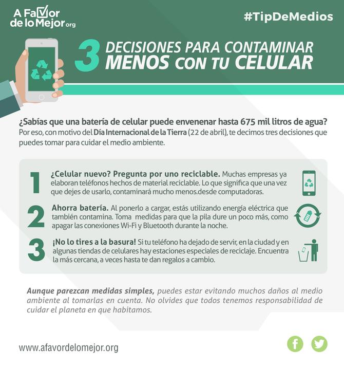 3 decisiones para contaminar menos con tu celular