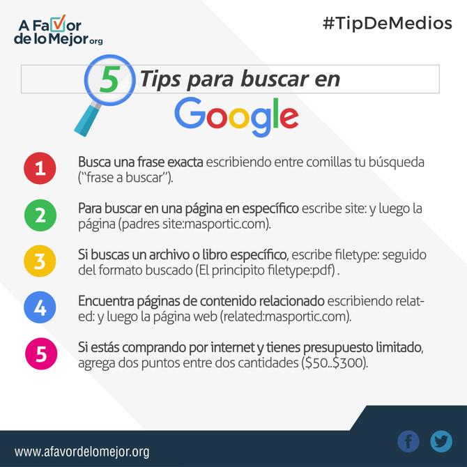 5 Tips para buscar en Google