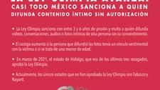 La Ley Olimpia avanza: casi todo México sanciona a quien difunda contenido íntimo sin autorización.