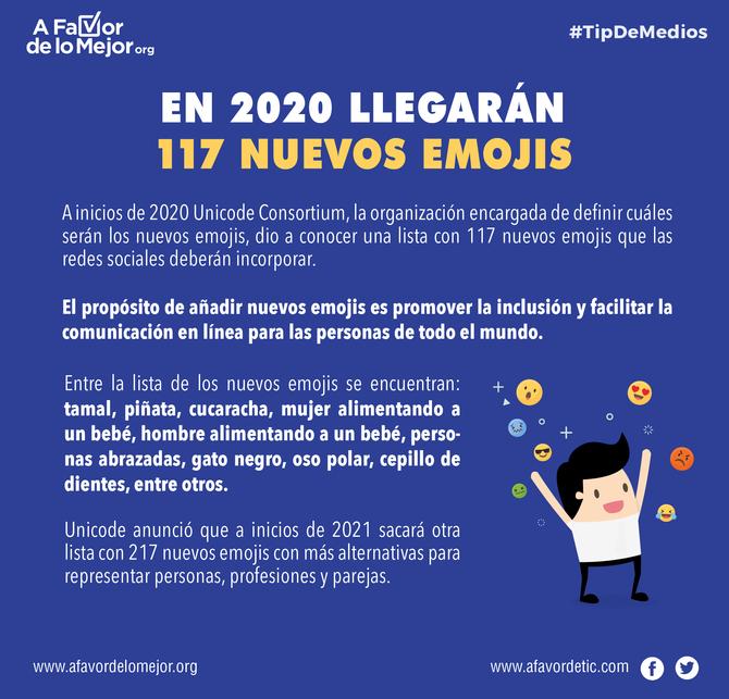En 2020 llegarán 117 nuevos emojis