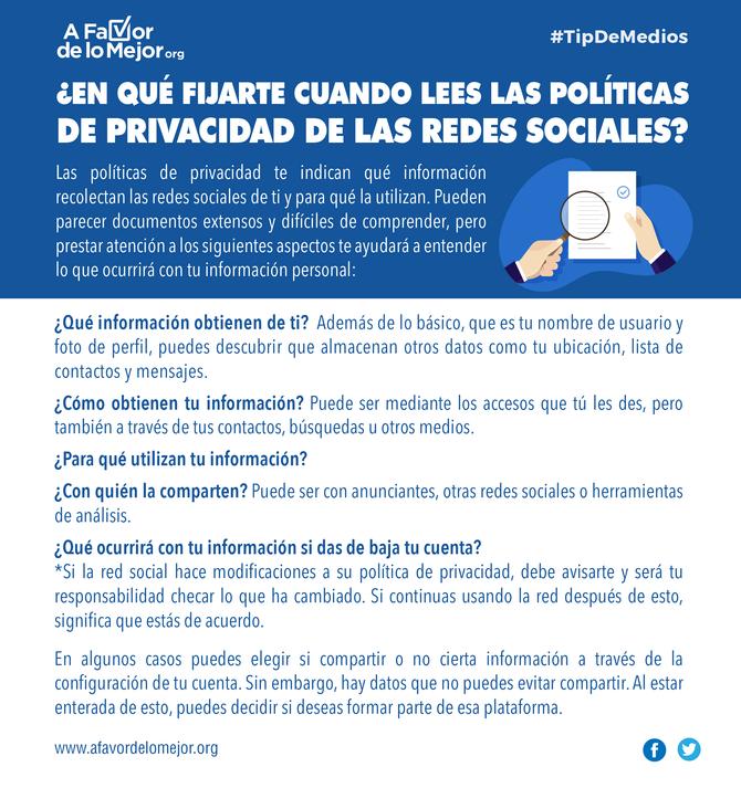 ¿En qué fijarte cuando lees las políticas de privacidad de las redes sociales?
