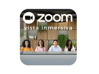 ¿Qué es la vista inmersiva de Zoom?