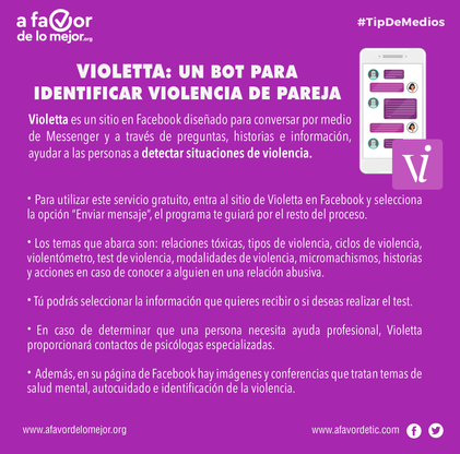 Violetta: un bot para identificar violencia de pareja