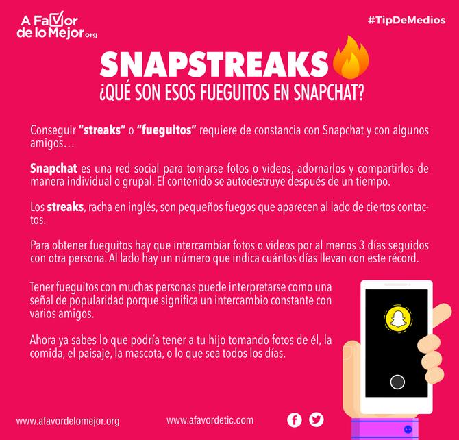 Snapstreaks: ¿Qué son esos fueguitos en Snapchat?