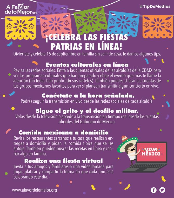 ¡Celebra las fiestas patrias en línea!