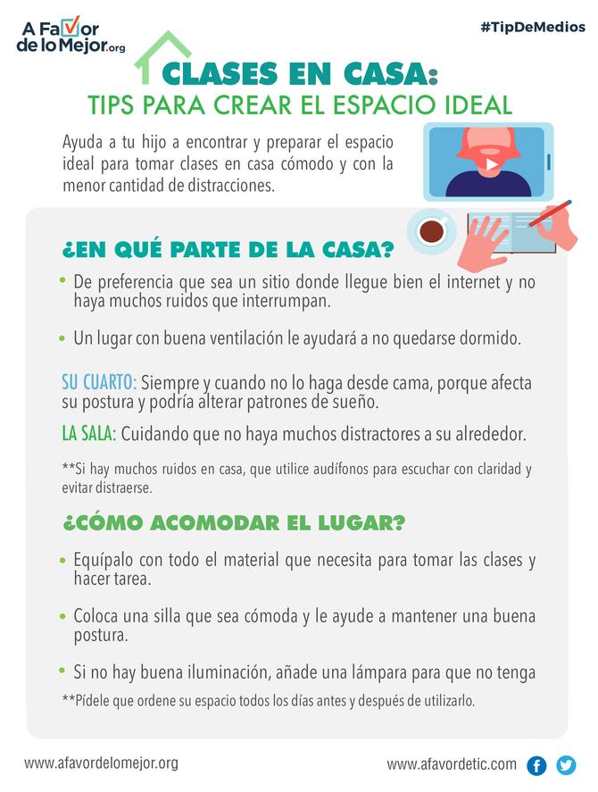 Clases en casa: tips para crear el espacio ideal