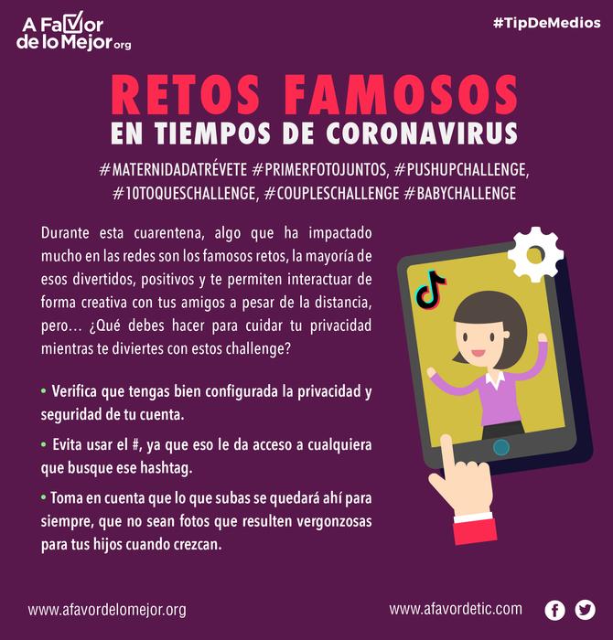 Retos famosos en tiempos de coronavirus
