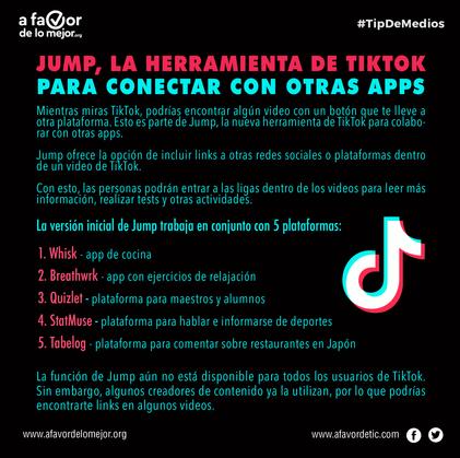 Jump, la herramienta de TikTok para conectar con otras apps
