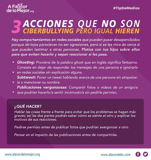 3 acciones que no son ciberbullying pero igual hieren