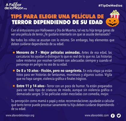 Tips para elegir una   película de terror dependiendo de su edad