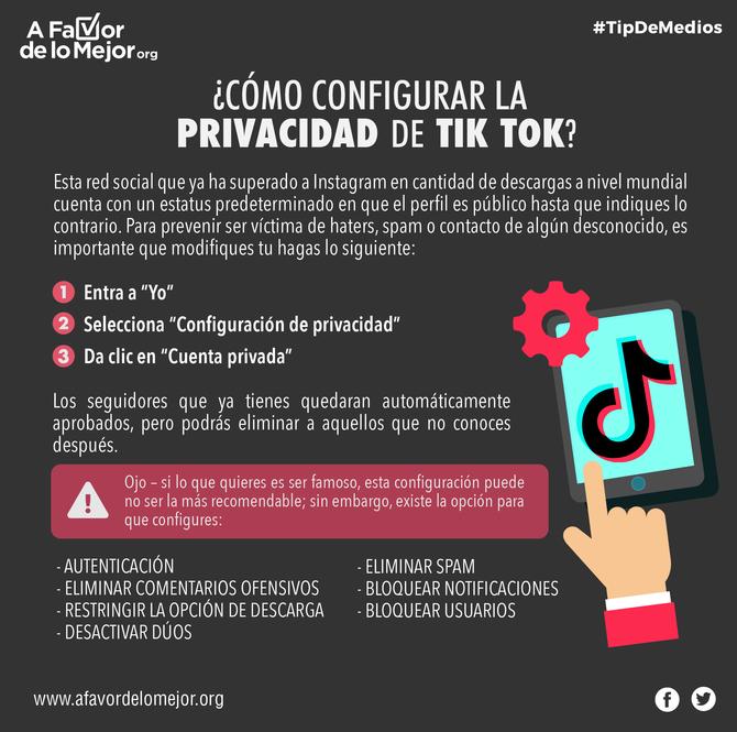 ¿Cómo configurar la privacidad de Tik Tok?