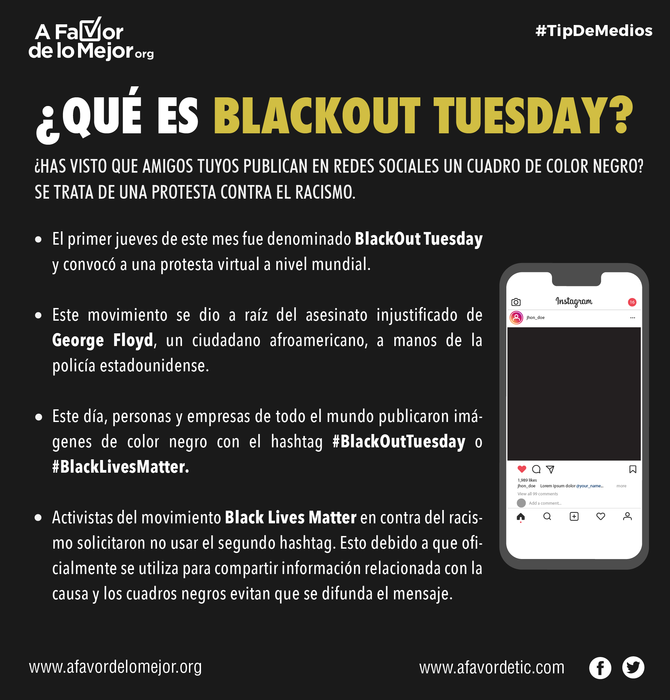 ¿Qué es BlackOut Tuesday?