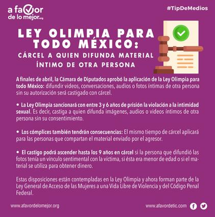 Ley Olimpia para todo México: cárcel a quien difunda material íntimo de otra persona