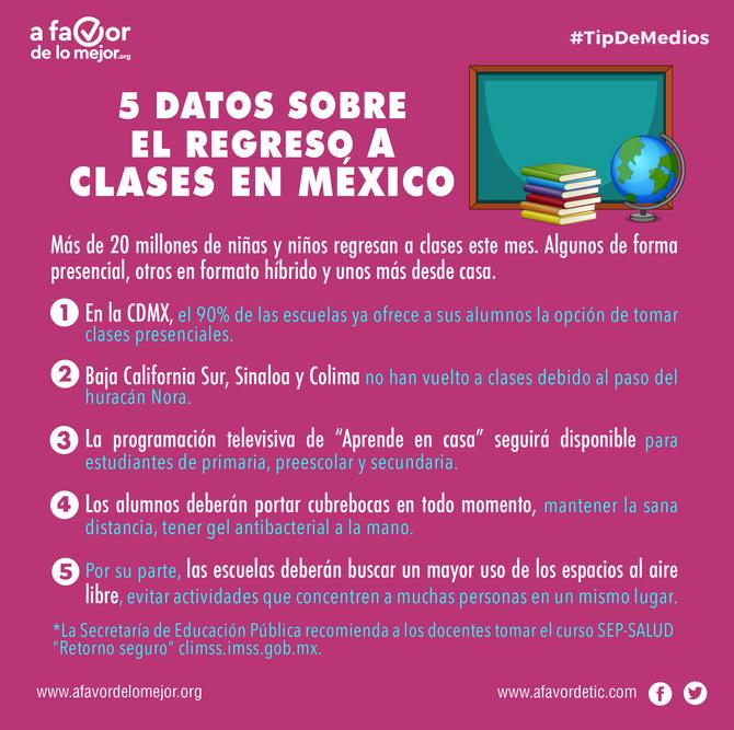 5 datos sobre el regreso a clases en México