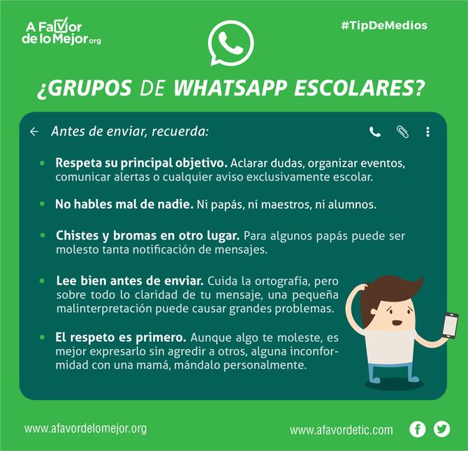 ¿Grupos de WhatsApp escolares?